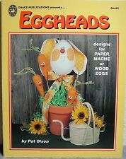 """""""Eggheads"""" Tole Painting Book by Pat Olsen: Paper Mache Eggs~Gourds: Holidays+"""