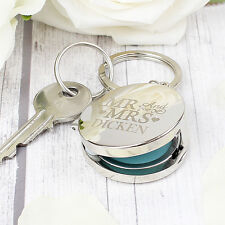 Personalised Engraved Mr & Mrs Photo Keyring Photo Keyring Locket Gift Key Ring