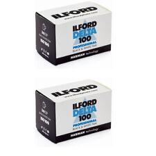 2 Rolls Ilford Delta 100 Professional 135-36 exp Black & White 35mm Film