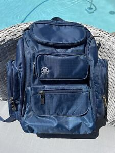Jeep Pockets Backpack Diaper Bag Navy Blue