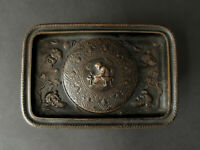 Encrier en bronze à décor antique, signé Ferdinand Barbedienne (1810-1892)