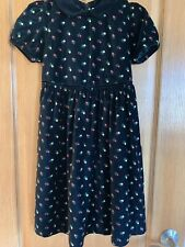 Gymboree Black Velvet Red and Green Floral Holiday Dress Girls Sz XXL 6-7 years
