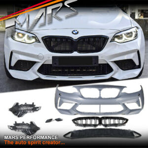 M2C M2 Competition look Front Bumper bar & Grill Bodykit to BMW 2 Series F22 F23