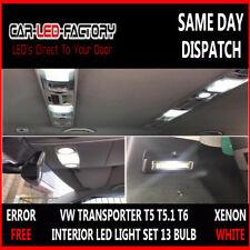 VW T5 T5.1 T6 TRANSPORTER CARAVELLE LED LIGHTING UPGRADE SET x13 BULBS WHITE