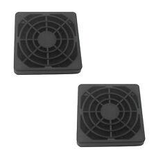 2 Pcs Black Plastic Square Dustproof Filter 40mm PC Case Fan Mesh