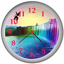 Rainbow Waterfalls Of Dreams Room Decor Wall Clock