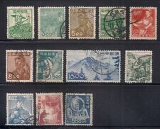 Japan  1948-49  Sc # 425-36  Wmk.W3  Complete set   Cancelled   (50525)