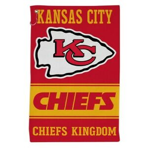 """KANSAS CITY CHIEFS ALL PURPOSE GOLF TAILGATE TOWEL 16""""X25"""" HOOK AND GROMMET"""