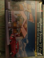 Revell Monogram Highway Scenes '37 Ford With Die-cut Diorama Drive-in