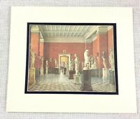 1983 Vintage Stampa The Inverno Palazzo Romana Statua Gallery Russia Famiglia