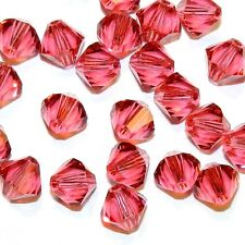 SCB5104f INDIAN PINK 6mm Faceted Xilion Bicone Swarovski Crystal Beads 24/pkg
