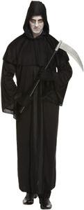 Adult Grim Reaper Death Fancy Dress Up Costume