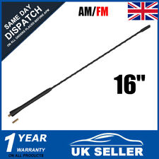 Black Rubber Long Whip Replacement Aerial Antenna Bee Sting Car Van Modified 16""