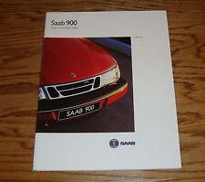 Original 1995 Saab 900 Deluxe Sales Brochure 95 Coupe Convertible 5 Door