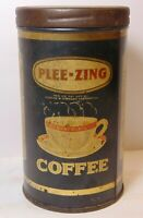 Small Rare Old Vintage 1920s PLEE ZING COFFEE TIN 1/2 POUND ST. LOUIS MISSOURI