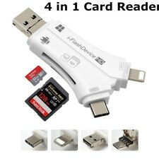 4 in1 i-Flash USB Drive TF Memory Card Reader Adapter For iPad IOS Android New