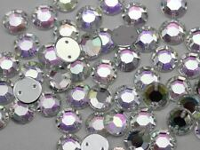 7mm SS34 Crystal Clear AB H702 Sew On Rhinestones - 100 Pieces