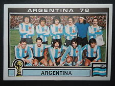 Panini 101 Team Argentina WM 78 World Cup Story