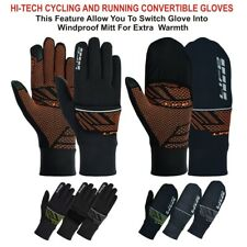 LIFE Running Gloves convertible Cycling Gloves race hybrid