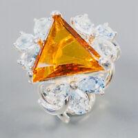 Citrine Quartz Ring Silver 925 Sterling Jewelry Sale Price Size 8 /R138860