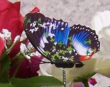 """Garden Decor Flower Pot Plant Pick Stake Colorful Butterfly NEW 12"""" tall #29"""