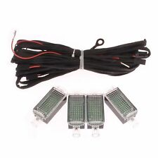 4x LED Interior Footwell Light & Cable Wire For VW Jetta Golf Passat AUDI A3 Q5