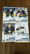 2018-19 BUFFALO SABRES TEAM ISSUE CARD SET JACK EICHEL RASMUS DAHLIN SKINNER