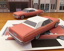 PaperCraft EZU-make 1975 Pontiac Grandville top up convert Paper Model Car