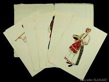 Peasant Costumes of Bulgaria ethnic folk dress paintings eastern Europe art book