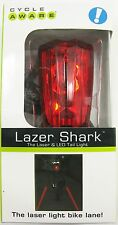 Cycle Aware Lazer Shark Bike Tail Light Red Rear Flashing Bicycle Saftey