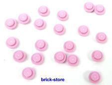 LEGO rosa / 1x1 x0.33 rotondo Piastre / Pietre rotonde / 20 Pezzi