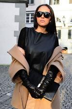 ZARA qualité premium noir authentique en cuir long smart gants taille l neuf