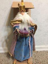Department 56 Krinkles Magi Fabric Doll (P. Brewster - 2007) Blue King