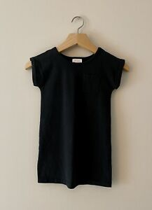 Hanna Andersson 110cm US 5 T-shirt Dress Black, New Without Tags 100% Cotton