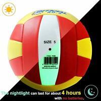 Light Up Official Volleyball Sand Beach Glow in The Dark Nightlight Training