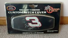 """DALE EARNHARDT DIE CAST CHROME CUSTOM HITCH COVER FOR 2""""- 1 1/4"""" RECEIVERS"""