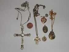 VINTAGE STERLING OH MARY CONCIEVED CALL A PRIEST MEDAL & MORE RELGIOUS LOT