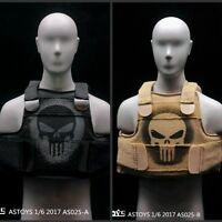 ASTOYS 1/6 scale AS025 Punisher skull tactical vest (2 colors) customizing