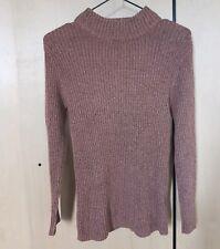 Womens Turtleneck Knitwear Long Sleeve Pullover Jumper Cardigan Sweater  size 14