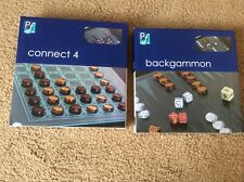 Bundle of 2 x Glass Games - Backgammon & Connect 4
