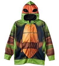 Teenage Mutant Ninja TURTLES Jacket Boy 5/6 NeW Costume Hoodie Mask Michelangelo