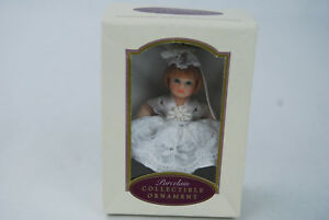 2000 DG Creations Porcelain Collectible Ornament Poseable Doll - NIB
