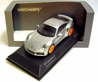 1:43 MINICHAMPS 2020 PORSCHE 911 992 turbo silver PFF LE 50 car.tima CUSTOMIZED