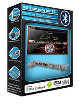VW Transporter T5 Lecteur CD, Pioneer Voiture Radio Aux Usb, Bluetooth Mains Libres Kit