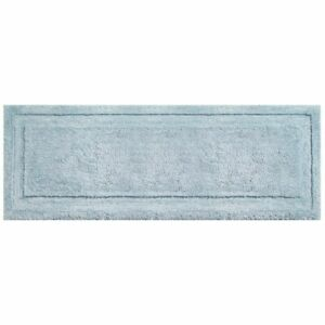 mDesign Soft Microfiber Polyester Rug, Non-Slip Spa Mat/Runner - Water Blue