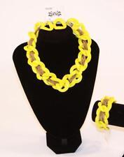 Tamina Necklace Earrings & Bracelet Set Premium Fashion Jewelry Yellow JXDF New