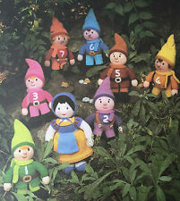 KNITTING PATTERN Jean Greenhowe Snow White 7 Dwarfs Fairy Tale Toys RARE