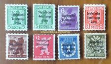 EBS Germany 1948 Soviet Zone Berlin Reconstruction set overprints 200-206 MNH**