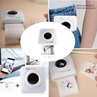 Portable Mini Thermal Printer Wireless Bluetooth Photo Label Printer with Paper