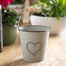13cm Small Decorative Heart Bucket Windowsill Herb Plant Pot Wedding Table Decor